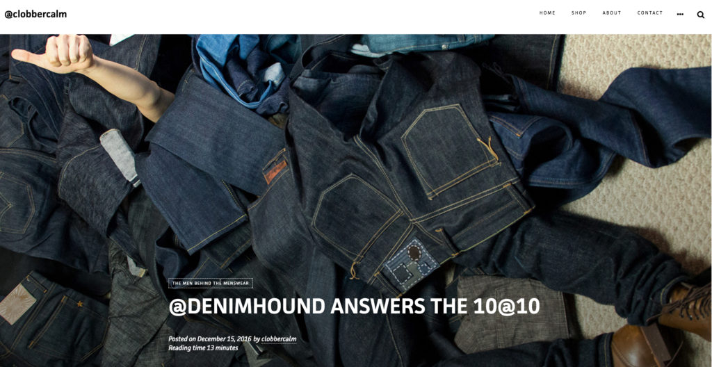 Denim Hound on Clobber Calm's 10@10