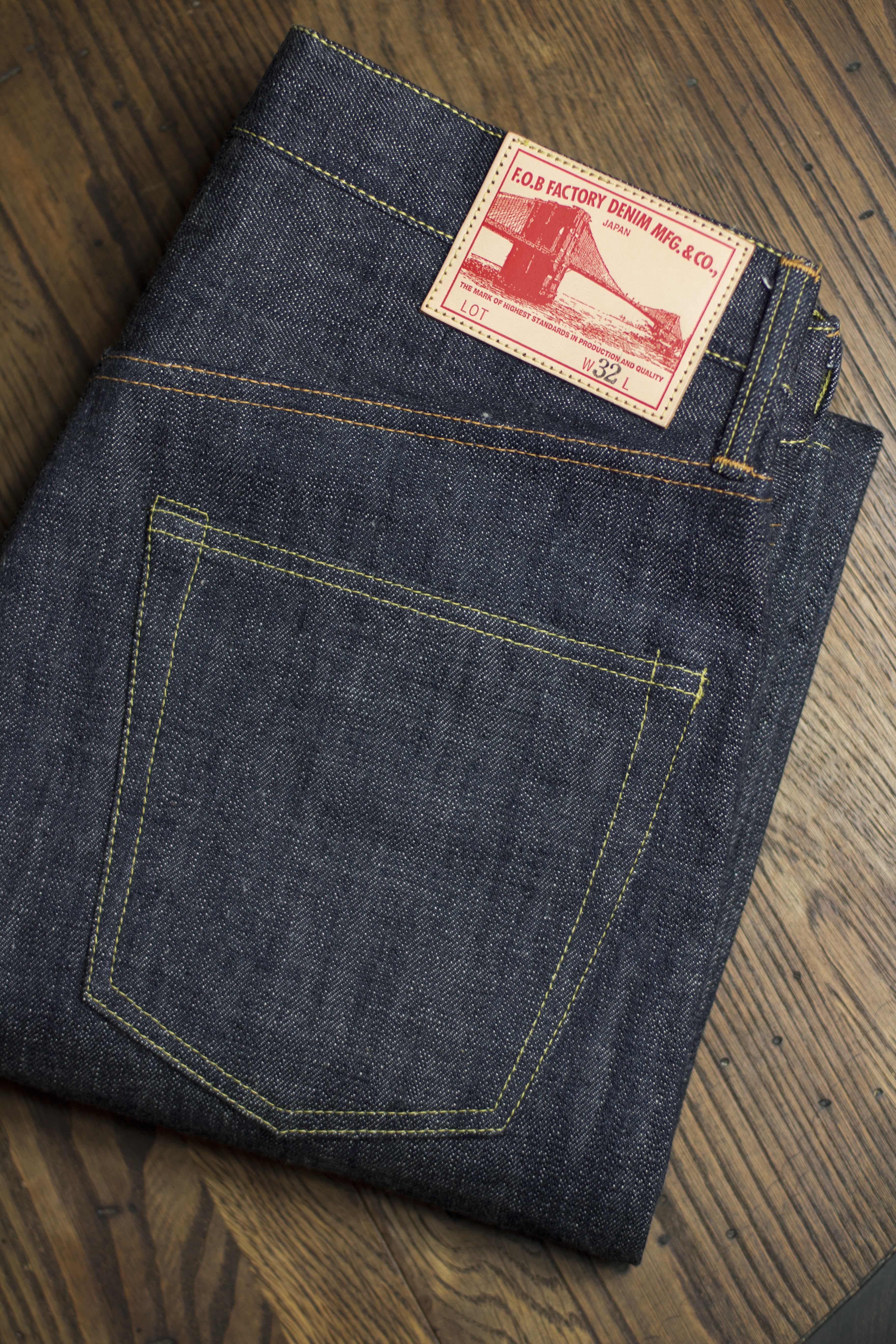 292a03d8ad8 For this very limited run project, FOB Factory has reproduced the 1950's  classic style denim, cut into a slim tapered jean and type II jacket.